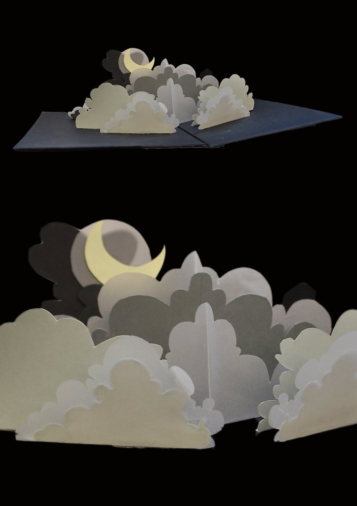 Открытка объемные облака