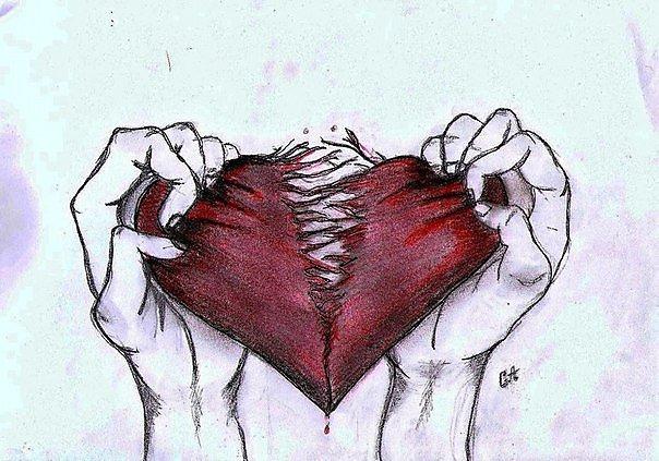 это значит, рваное сердце картинки большое