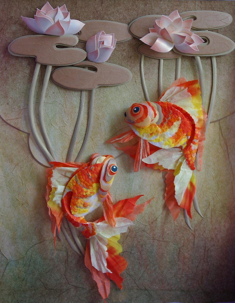 Открытка с рыбами своими руками