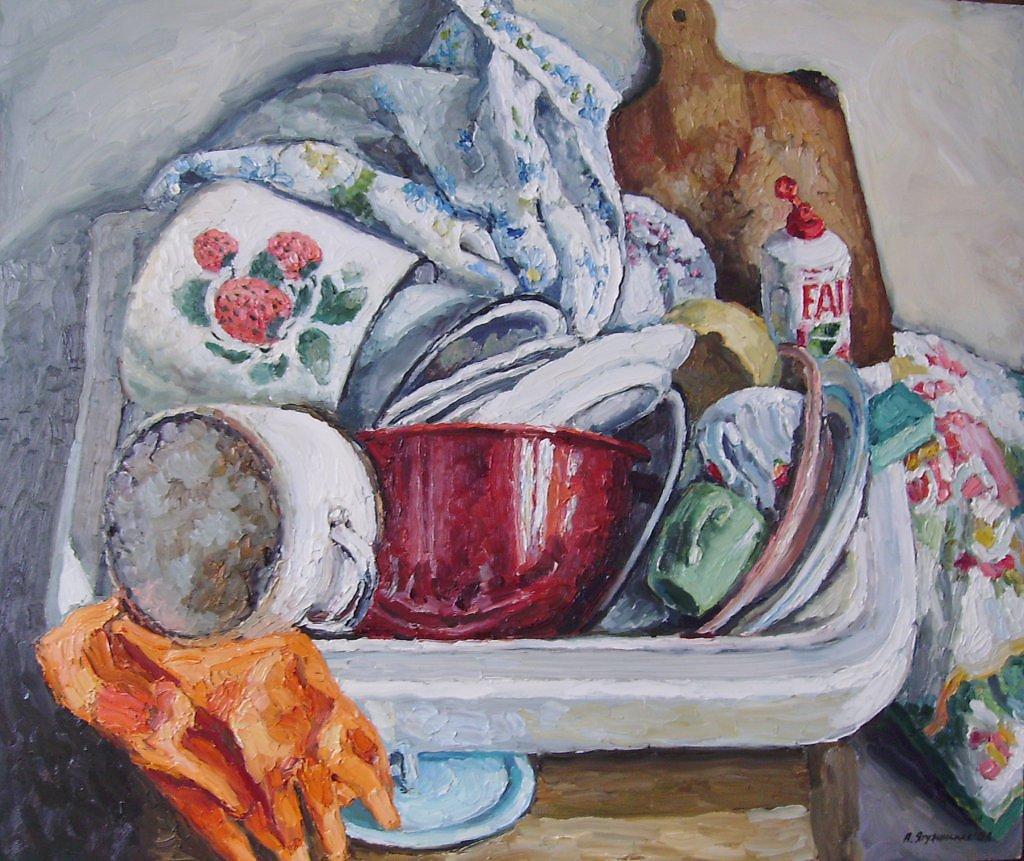 Про лентяев, открытки не мытая посуда