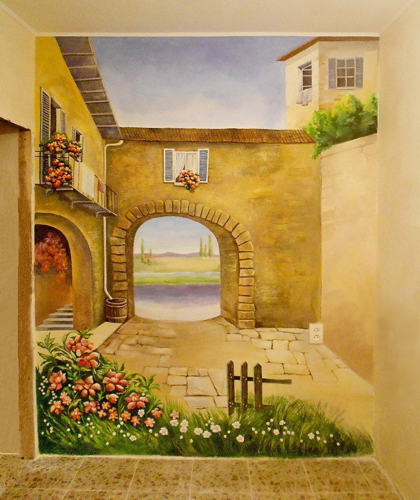 Рисунок для фрески в стиле прованс