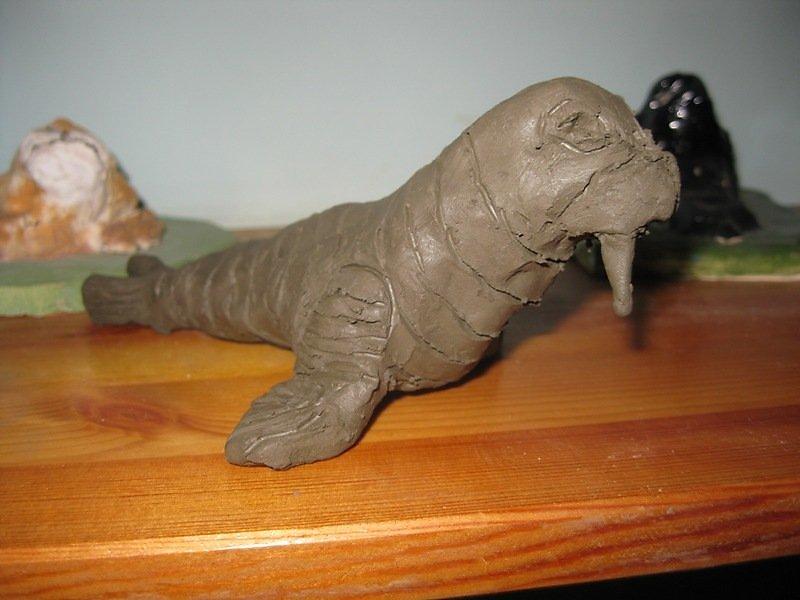 картинки моржа из пластилина попросил отвезти