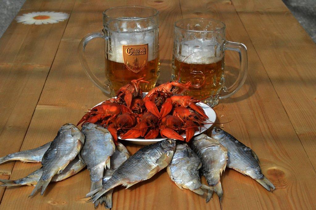 Поздравление, картинки пиво с раками и рыбой