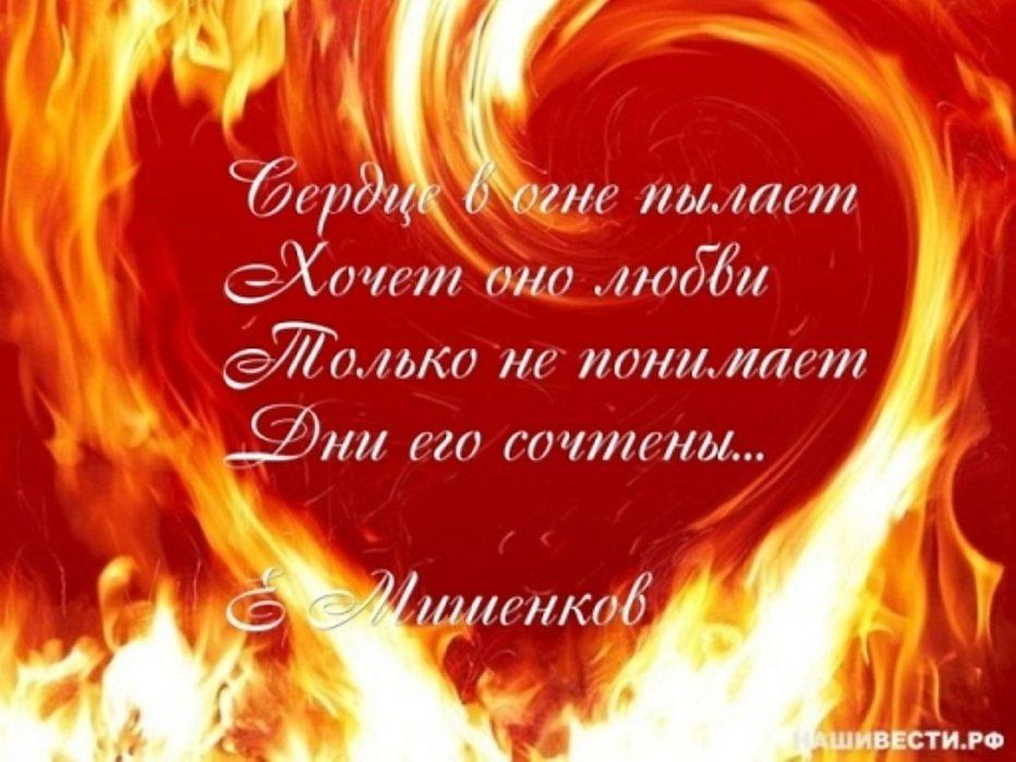 огонь любви стихи короткие фотоизображения