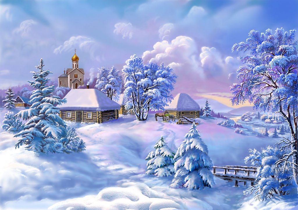 Картинки изображающие зиму