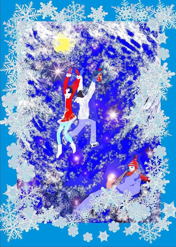 Красивая картинки снежинки в вальсе