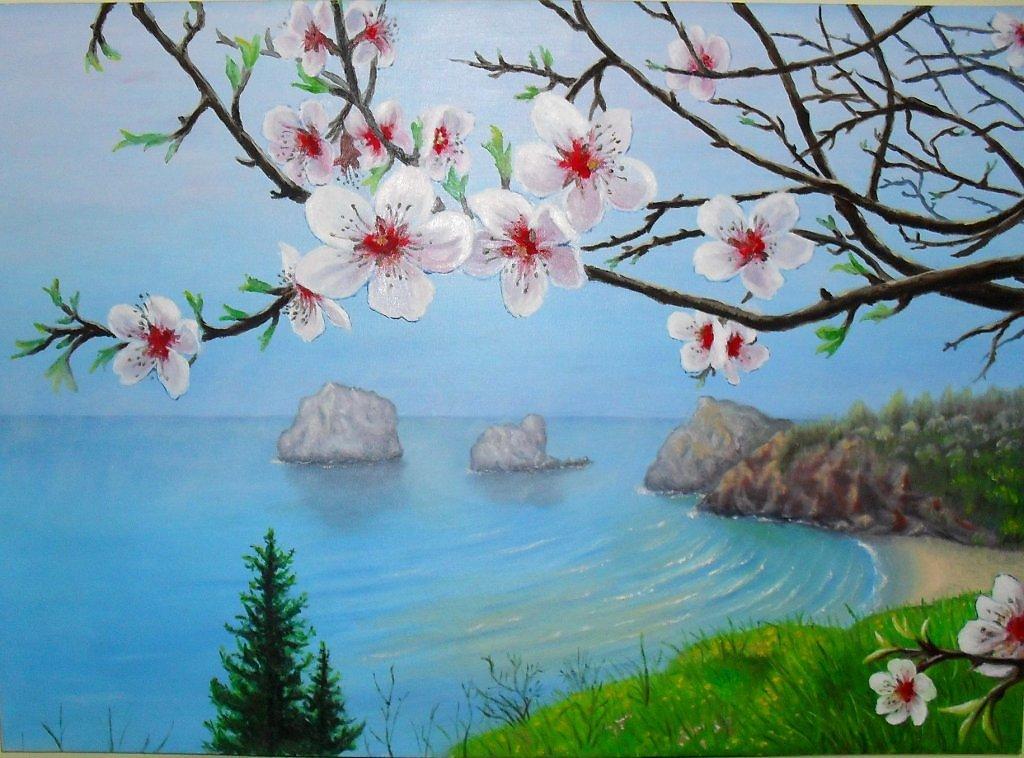 Крымская весна картинки для срисовки, открытки декупаже