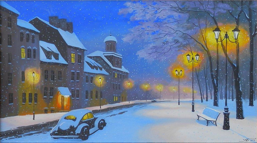 вечерний зимний город картинки нарисовать будто отмечаете новоселье