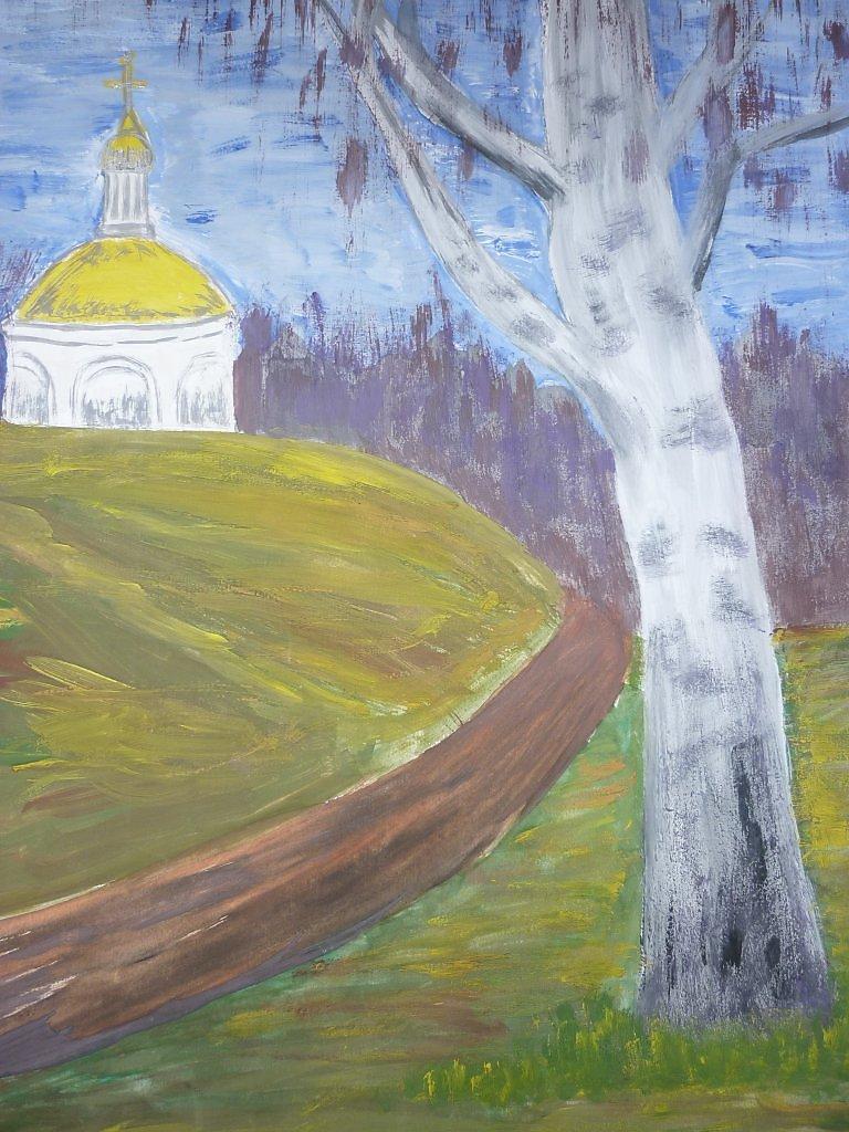 Детские рисунки дорога к храму
