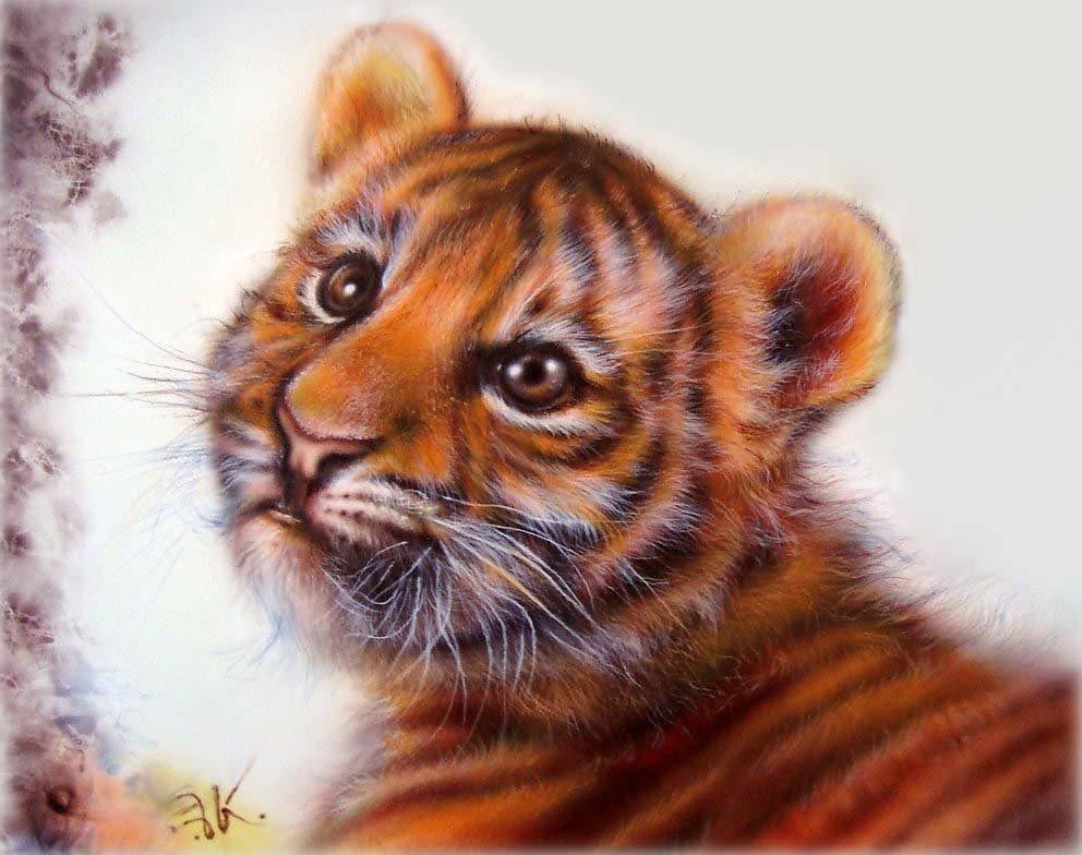 турбокомпрессора красивые рисунки тигренка даже тщательный уход
