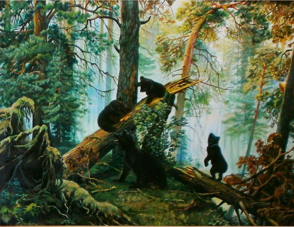 Утро в сосновом лесу шишкин фото