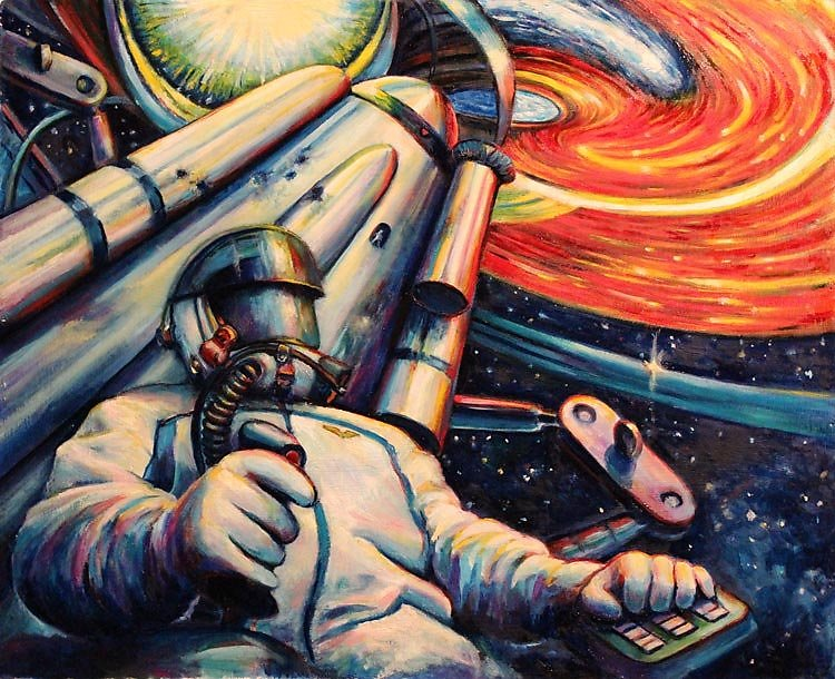 Советские рисунки космоса