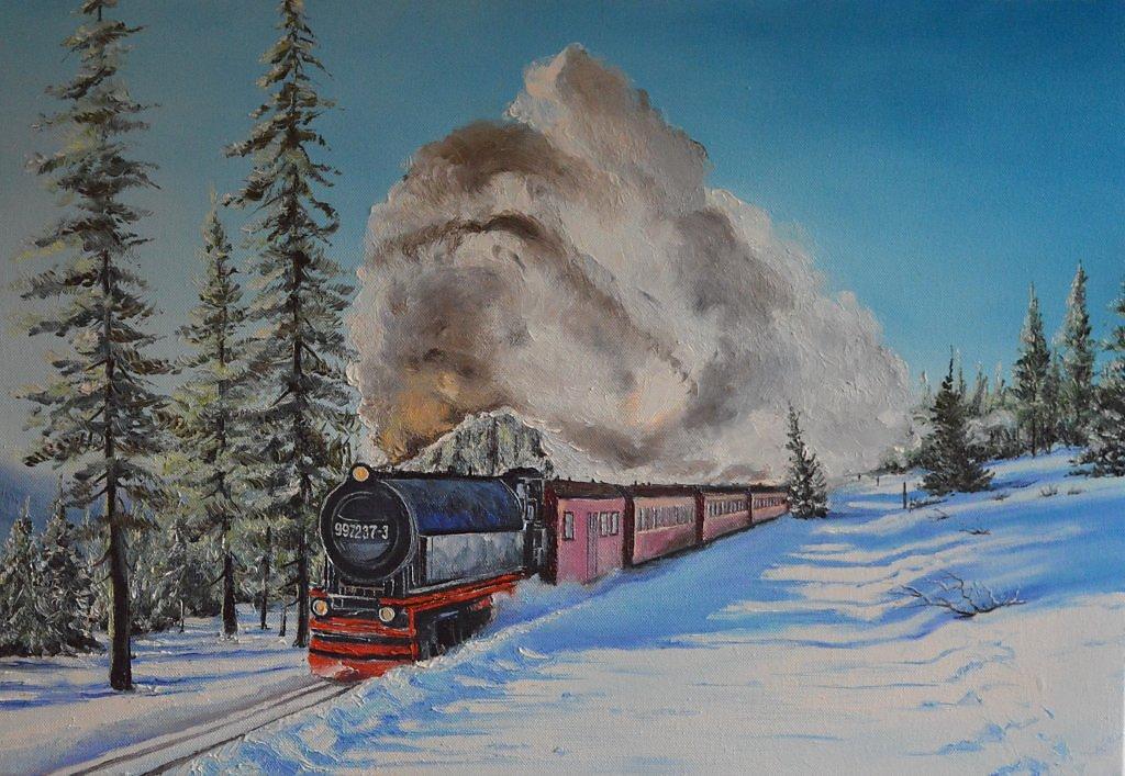 Про, открытка поездом