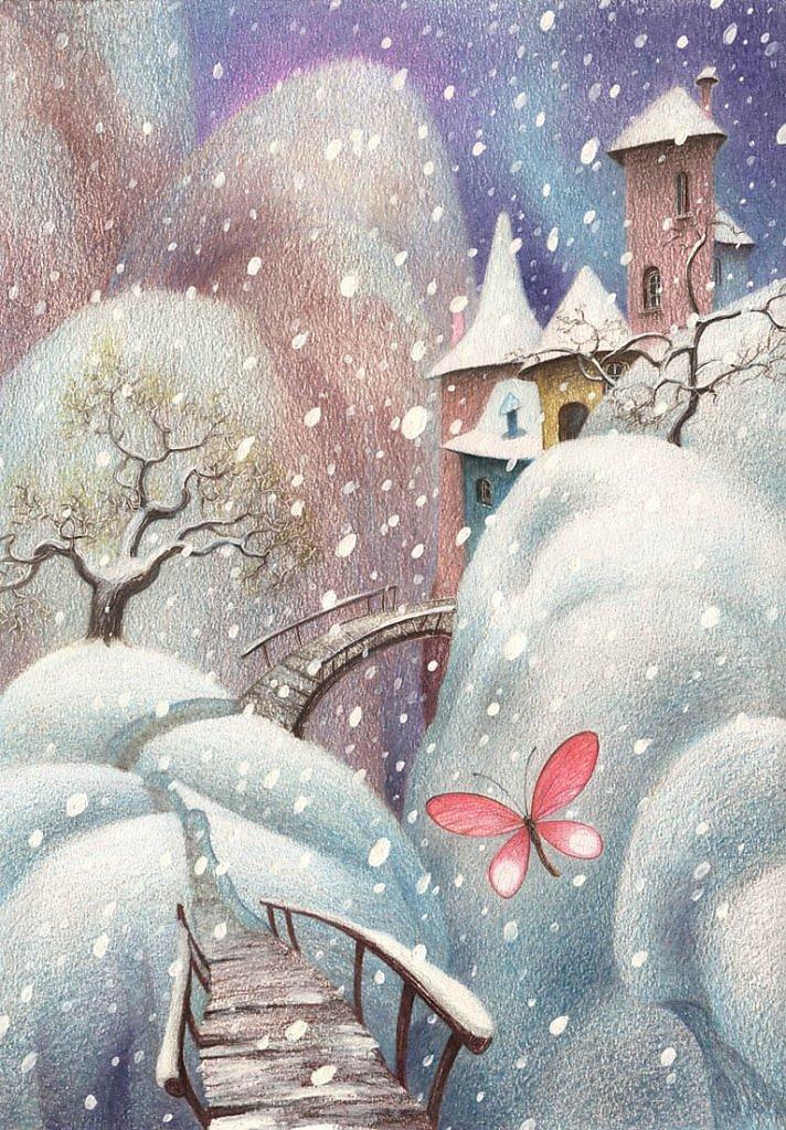 Зимний день рождения картинки