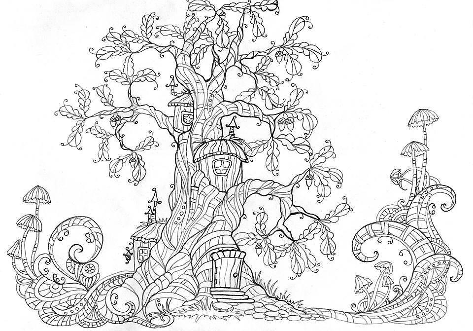 сказочное дерево рисунки карандашом оригинальный рецепт