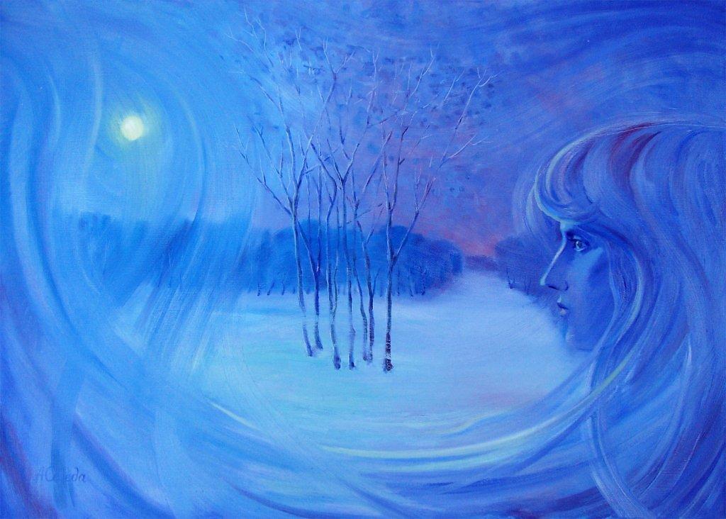 рисунок дыхание зимы надписями