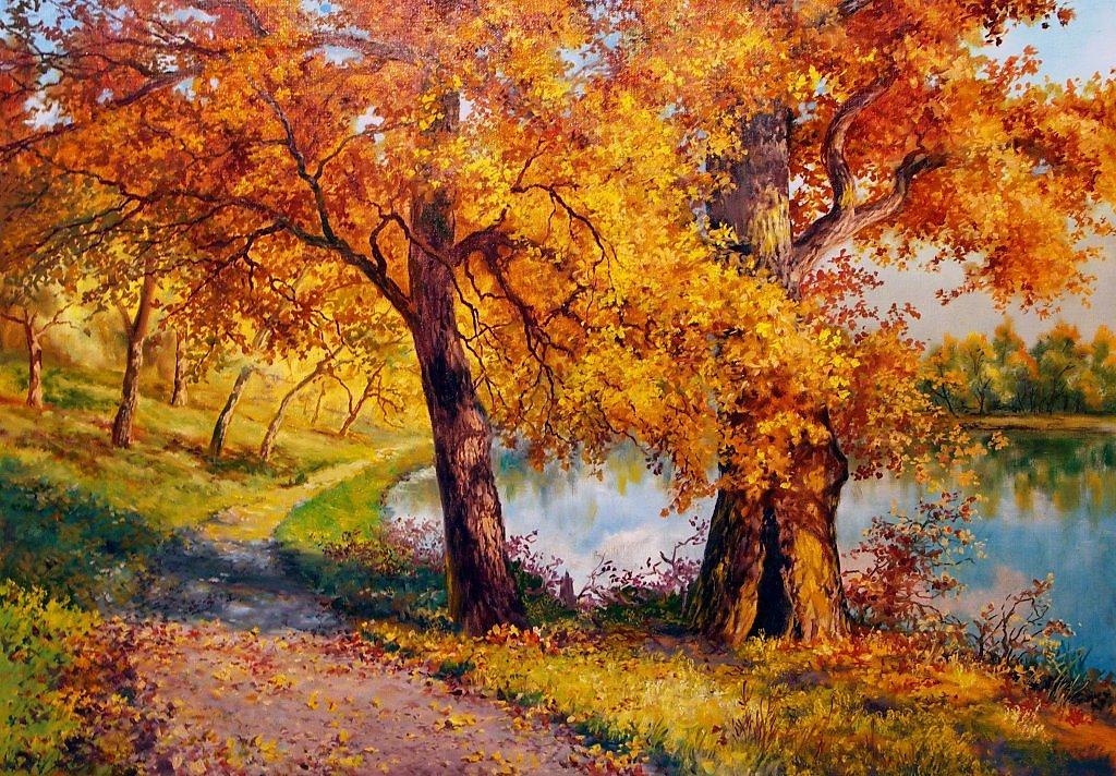 пейзажи в картинках про осень конце