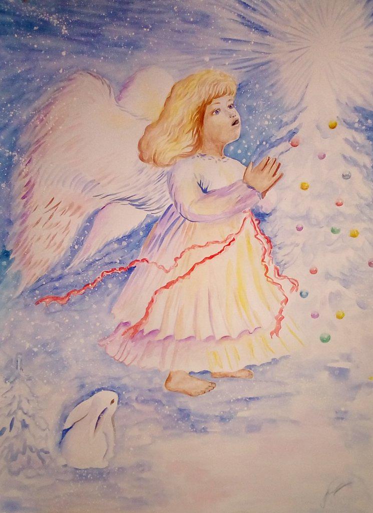 этом рецепте рождественские ангелы рисунки применения