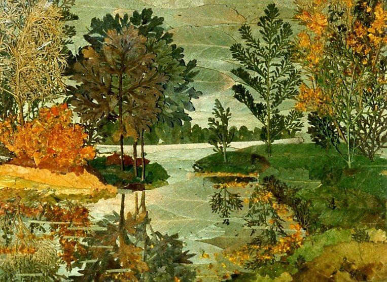 картинки композиции из сухих листьев поэтапно посте