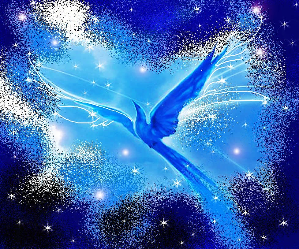 Синяя птица удачи в картинках