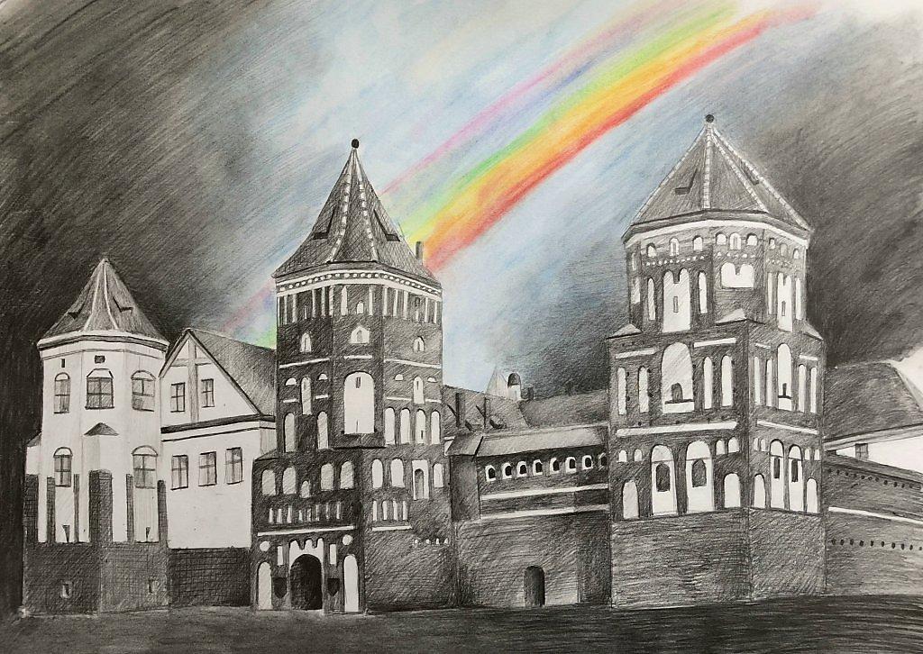 семь черно белые картинки мирского замка весьма
