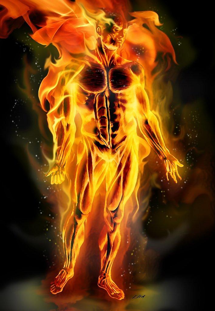 огненный парень картинки комнатный