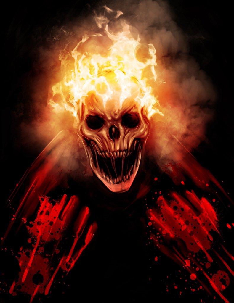 чтобы фото на аву череп в огне вариантов был